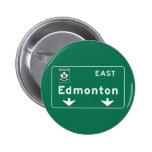 Señal de tráfico de Edmonton, Canadá Pins