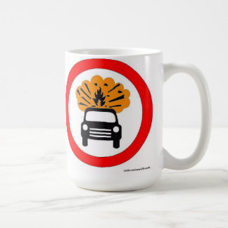 Señal de tráfico de estallido del europeo del port taza de café