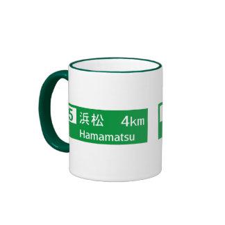 Señal de tráfico de Hamamatsu, Japón Taza A Dos Colores