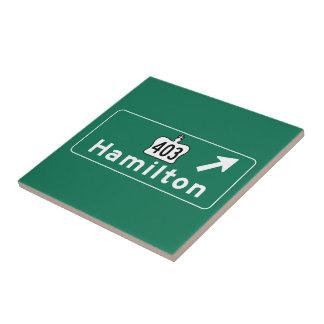 Señal de tráfico de Hamilton, Canadá Azulejo Ceramica