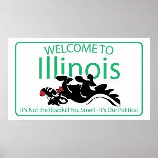 Señal de tráfico de Illinois Póster