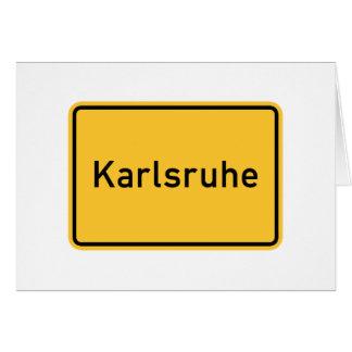 Señal de tráfico de Karlsruhe, Alemania Tarjetas