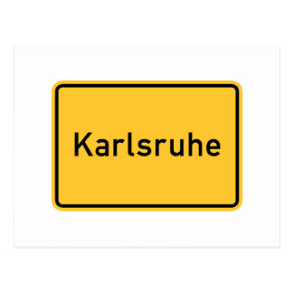 Señal de tráfico de Karlsruhe Alemania Postal
