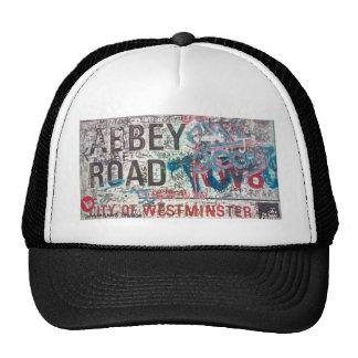Señal de tráfico de la abadía gorra