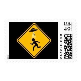 Señal de tráfico de la abducción sello