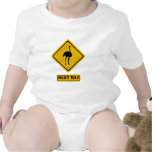 señal de tráfico de la avestruz traje de bebé