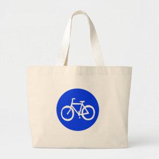 Señal de tráfico de la bici bolsa