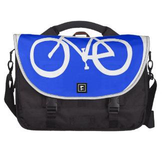 Señal de tráfico de la bici bolsa para ordenador