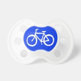 Señal de tráfico de la bici chupetes