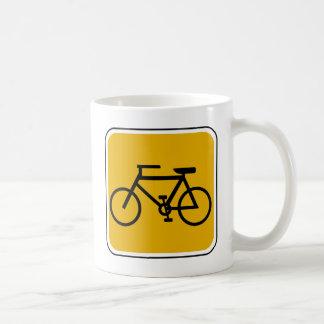Señal de tráfico de la bici del vintage taza