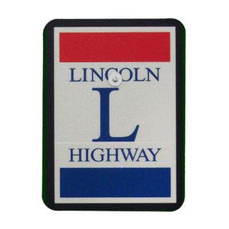 Señal de tráfico de la carretera de Lincoln Imanes