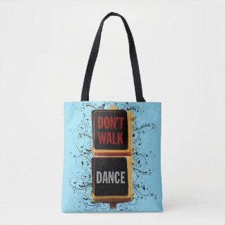 Señal de tráfico de la danza bolsa de tela