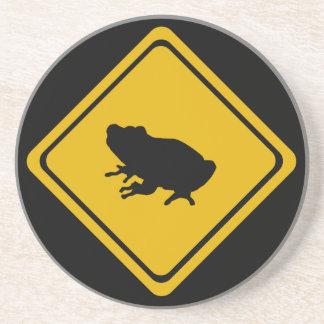 señal de tráfico de la rana posavasos manualidades