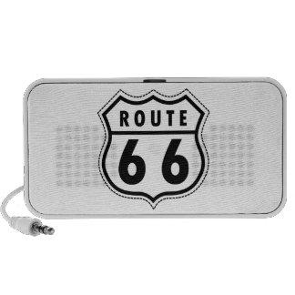 Señal de tráfico de la ruta 66 notebook altavoces