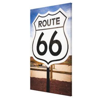 Señal de tráfico de la ruta 66, Arizona Impresion De Lienzo