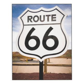 Señal de tráfico de la ruta 66, Arizona Impresión En Madera