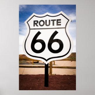Señal de tráfico de la ruta 66, Arizona Póster
