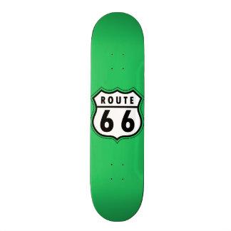 Señal de tráfico de la ruta 66 del verde de Kelly Patineta Personalizada
