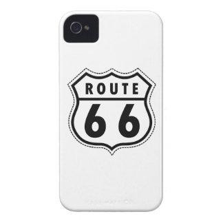 Señal de tráfico de la ruta 66 iPhone 4 carcasas