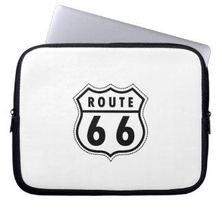 Señal de tráfico de la ruta 66 mangas computadora