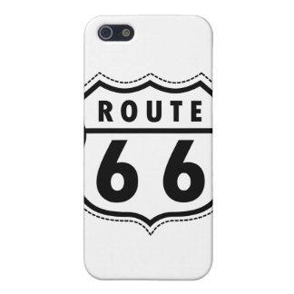 Señal de tráfico de la ruta 66 iPhone 5 funda
