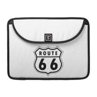 Señal de tráfico de la ruta 66 fundas macbook pro