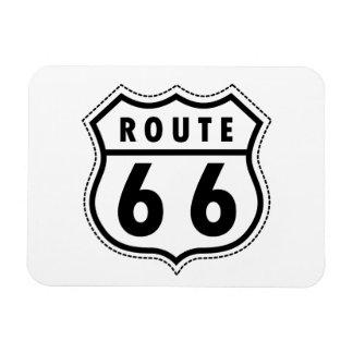 Señal de tráfico de la ruta 66 imán flexible