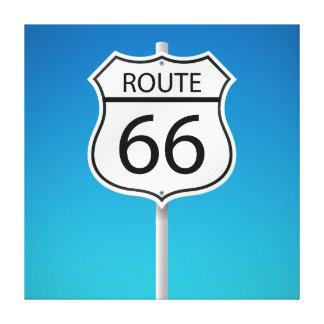 Señal de tráfico de la ruta 66 lona estirada galerias
