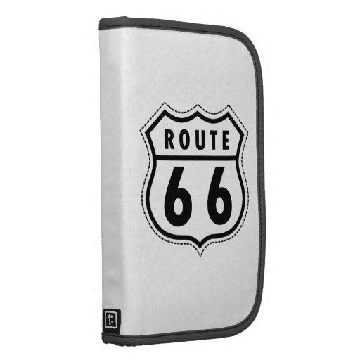 Señal de tráfico de la ruta 66 organizadores