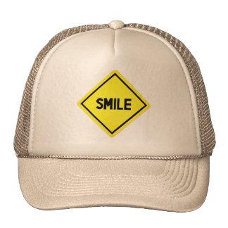 Señal de tráfico de la sonrisa gorro