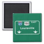 Señal de tráfico de Louisville, KY Imán Cuadrado