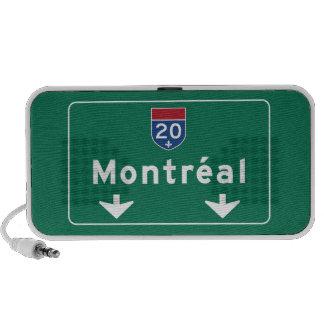 Señal de tráfico de Montreal, Canadá iPod Altavoz