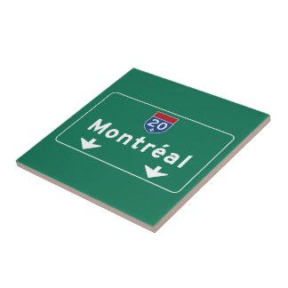 Señal de tráfico de Montreal, Canadá Tejas Ceramicas