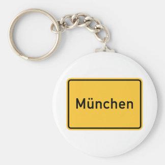 Señal de tráfico de Munich, Alemania Llavero Personalizado
