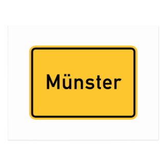 Señal de tráfico de Munster, Alemania Tarjeta Postal