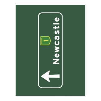 Señal de tráfico de Newcastle, Australia Postal