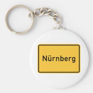 Señal de tráfico de Nuremberg Alemania Llavero Personalizado