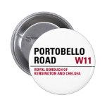 Señal de tráfico de Portobello Chapa Redonda 5 Cm