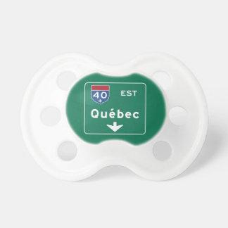 Señal de tráfico de Quebec, Canadá Chupete