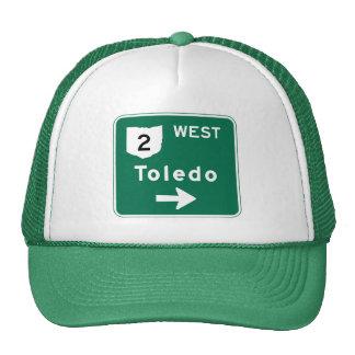 Señal de tráfico de Toledo, OH Gorros