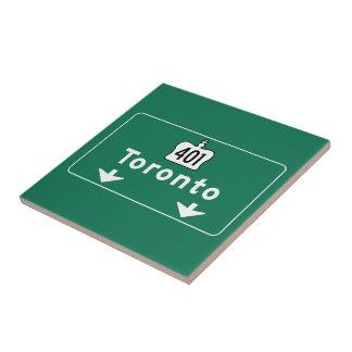 Señal de tráfico de Toronto, Canadá Azulejos Cerámicos