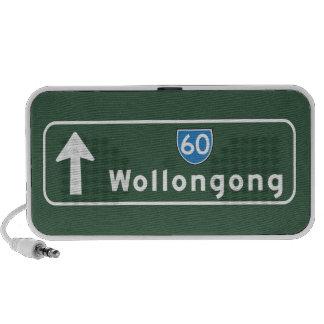 Señal de tráfico de Wollongong Australia