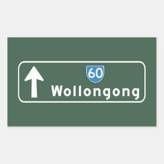 Señal de tráfico de Wollongong, Australia Pegatina Rectangular