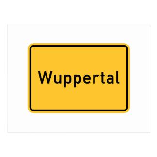 Señal de tráfico de Wuppertal, Alemania Postal