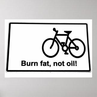 señal de tráfico del aceite de la grasa de la quem impresiones