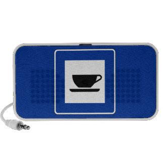 Señal de tráfico del café mini altavoz