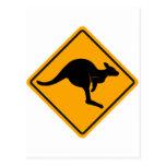 Señal de tráfico del canguro postal