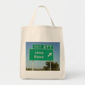 Señal de tráfico del jeep bolsa