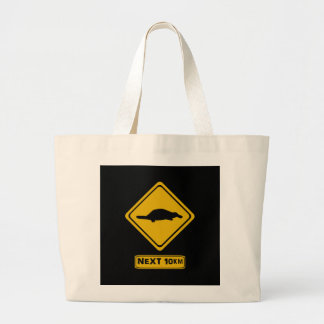 señal de tráfico del platypus bolsas lienzo