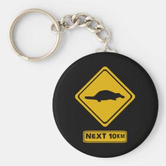 señal de tráfico del platypus llavero redondo tipo pin